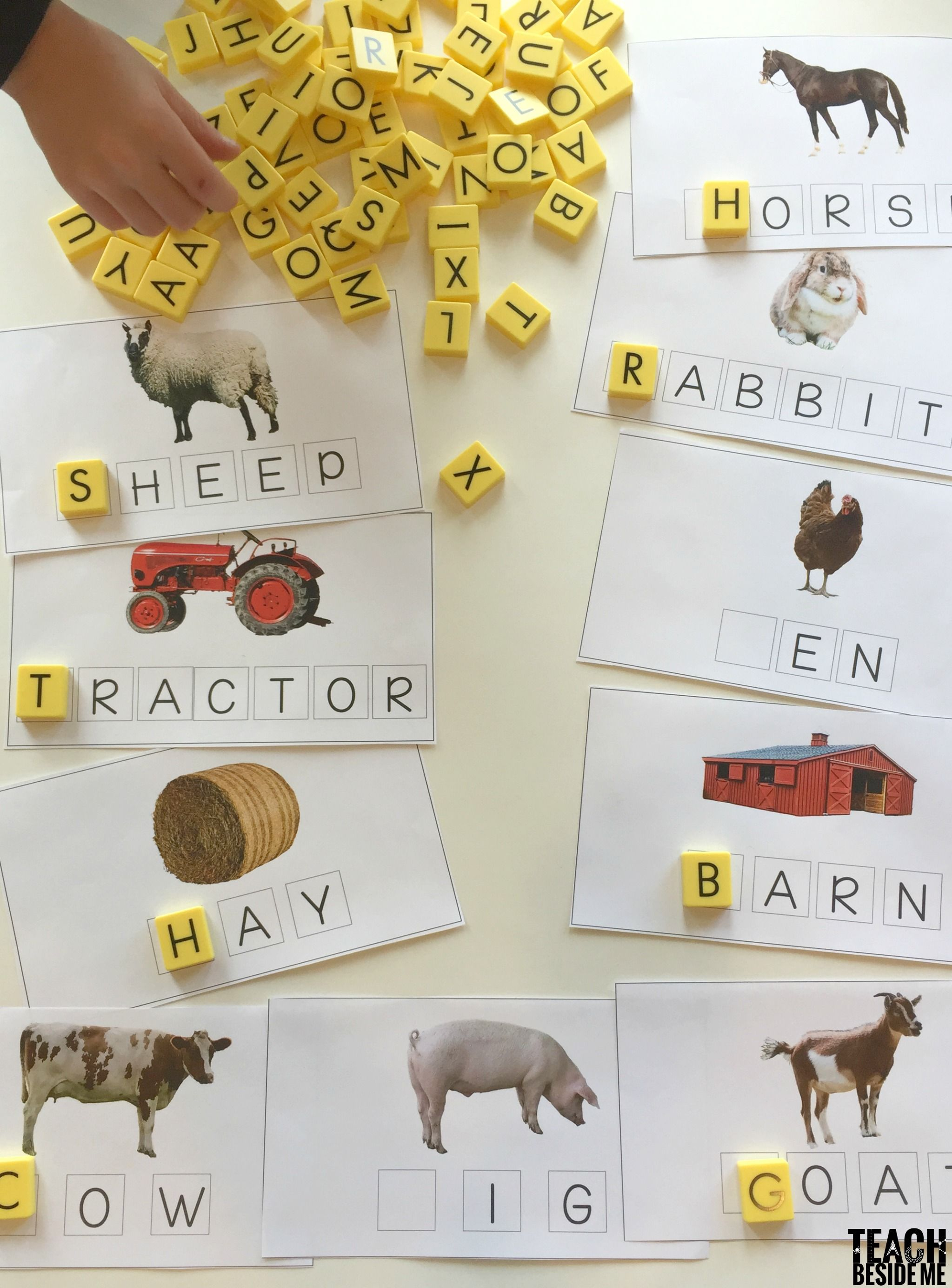 Click Clack Moo Farm Words Spelling Mats In