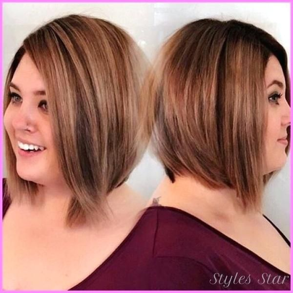 Haircut For Heavy Set Women Best Hairstyles For Overweight Women Photos Timeless Classic Asymmetric Haarschnitt Rundes Gesicht Haarschnitt Rundes Gesicht