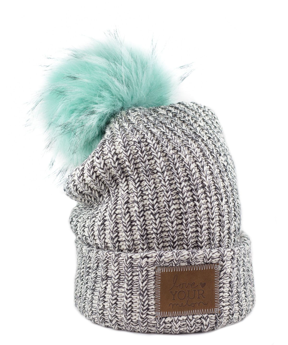 Black Speckled Cuffed Pom Beanie (Teal Pom) – Love Your Melon I would love  this hat so much!! And it s for a cause 727ca3fd6e5
