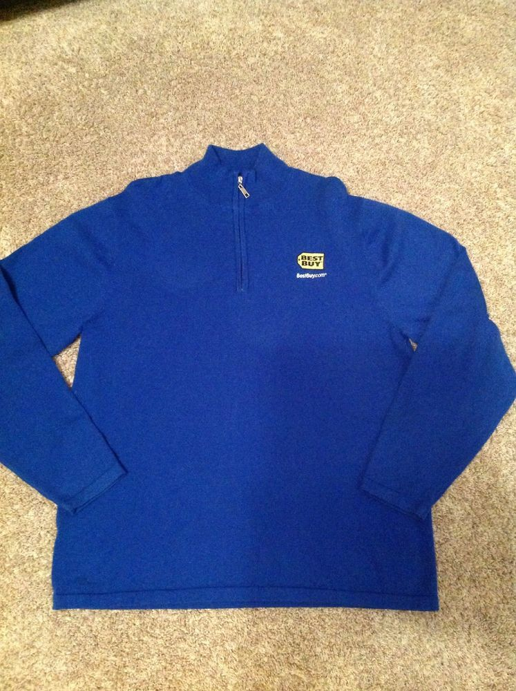 4f019280d Best Buy Employee Uniform Blue Cotton Blend Long Sleeve Half Zip Sweater L  Large #fashion #clothing #shoes #accessories #uniformsworkclothing #shirts  (ebay ...