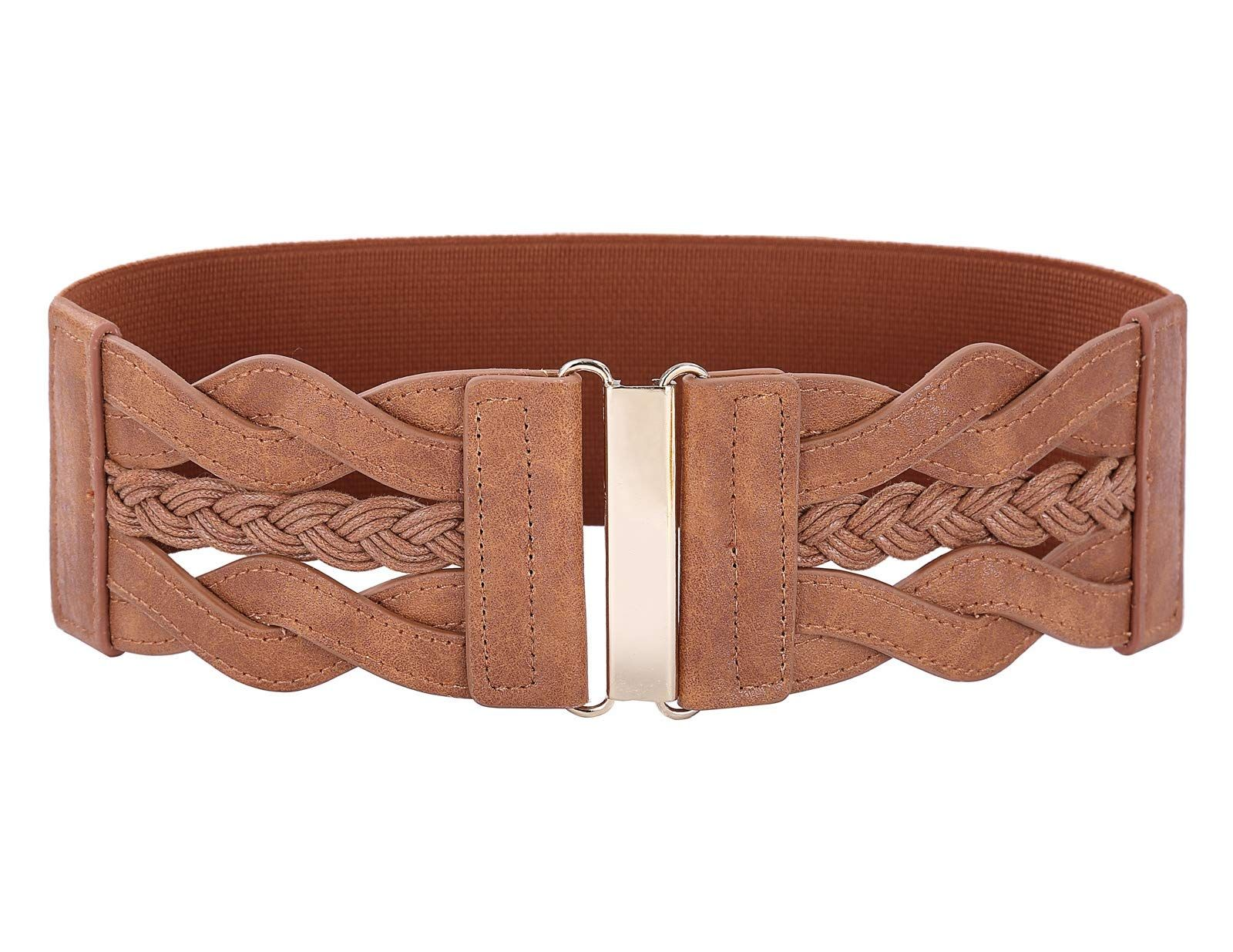 Style /& Co Womens Laced Braid Faux Leather Belt