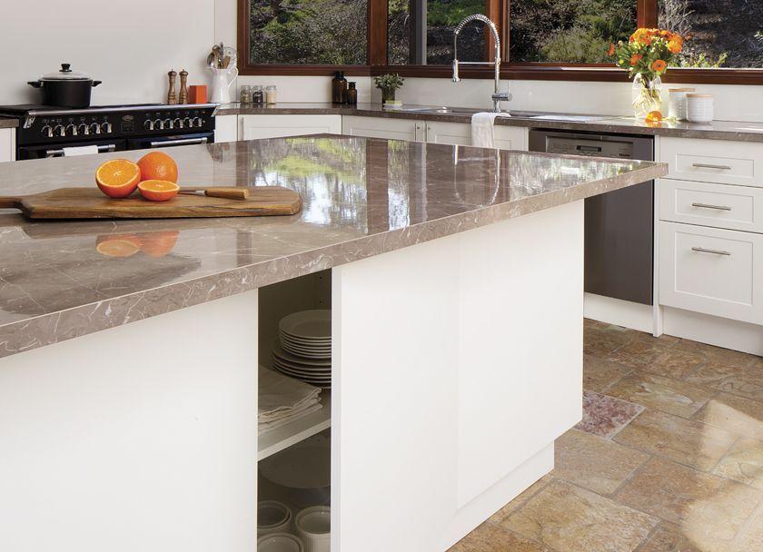 rum raisin island laminate benchtop kaboodle kitchen kitchen design kitchen inspirations on kaboodle kitchen design id=39429