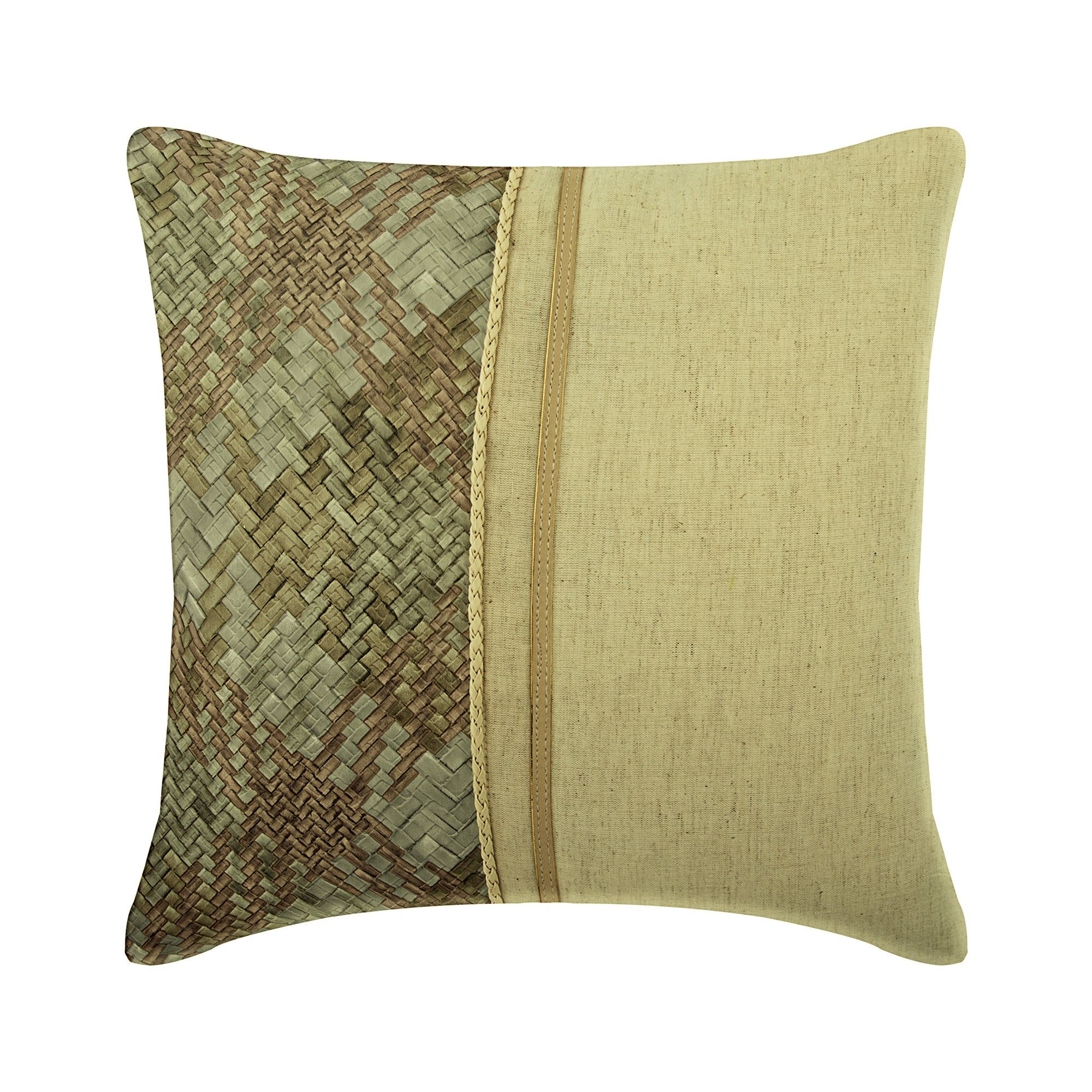 Luxury Beige Throw Cushion 16x16 Linen Faux Etsy Leather
