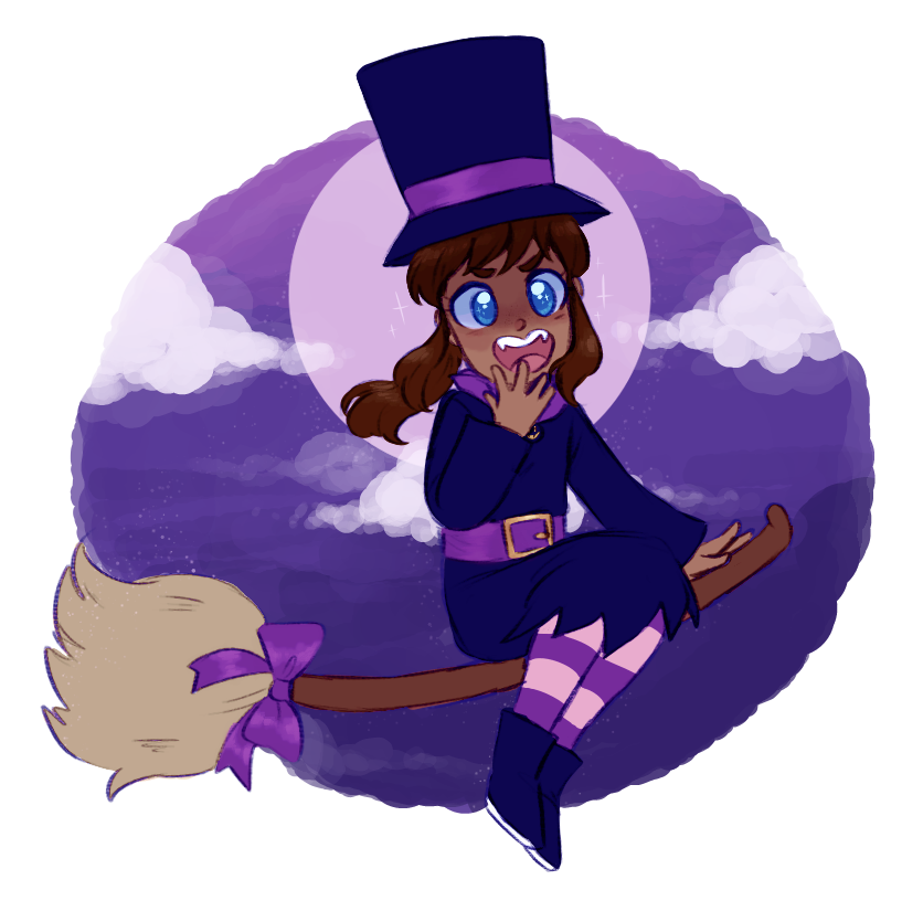 Pinkpons Happy Halloween From Witch Kid A Hat In Time Girl With Hat Hats