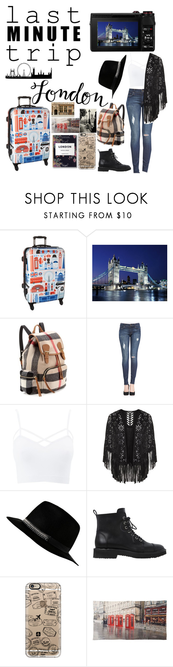 """""""London"""" by gwad ❤ liked on Polyvore featuring Heys, Burberry, Hudson, Charlotte Russe, Giuseppe Zanotti, Casetify, Tolani and plus size clothing"""