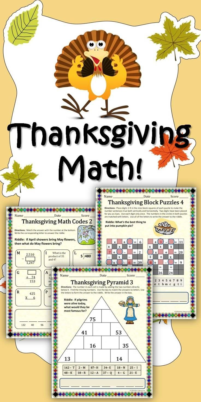 Thanksgiving Math Activities Thanksgiving Math Math Activities Thanksgiving Math Worksheets [ 1471 x 736 Pixel ]