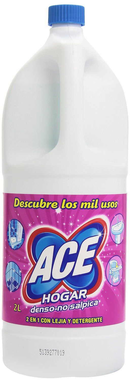 148 Ace Limpiador Hogar 2 1 Con Lejia Y Detergente 2 L Amazon Es Supermercado Detergent Toothpaste Packaging