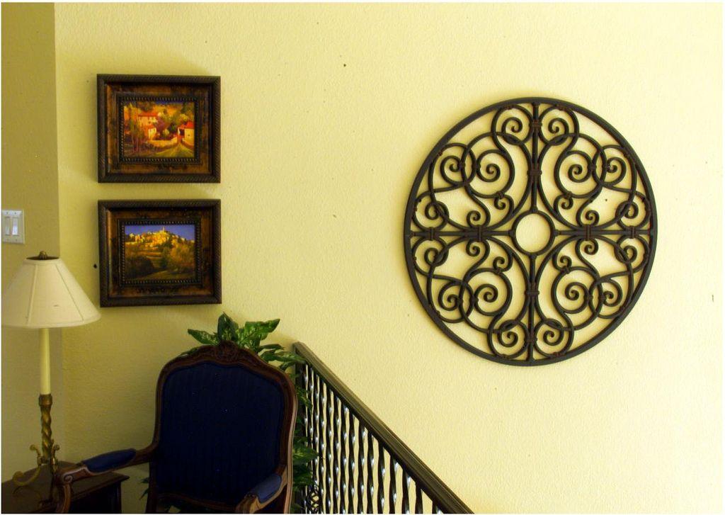 Fine Wrought Iron Wall Art Decor Embellishment - Art & Wall Decor ...