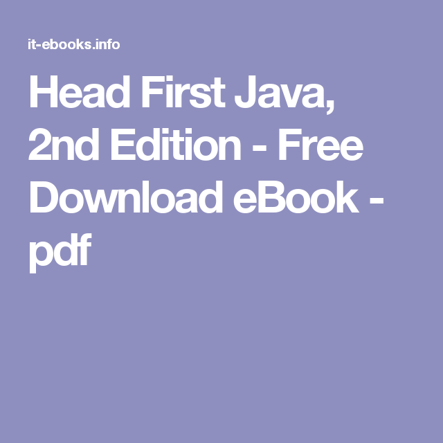 Head first java 2nd edition free download ebook pdf java head first java 2nd edition free download ebook pdf fandeluxe Images