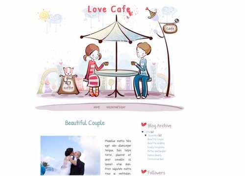 Love Cafe Blogger template Lovely Templates Blogging - love templates free