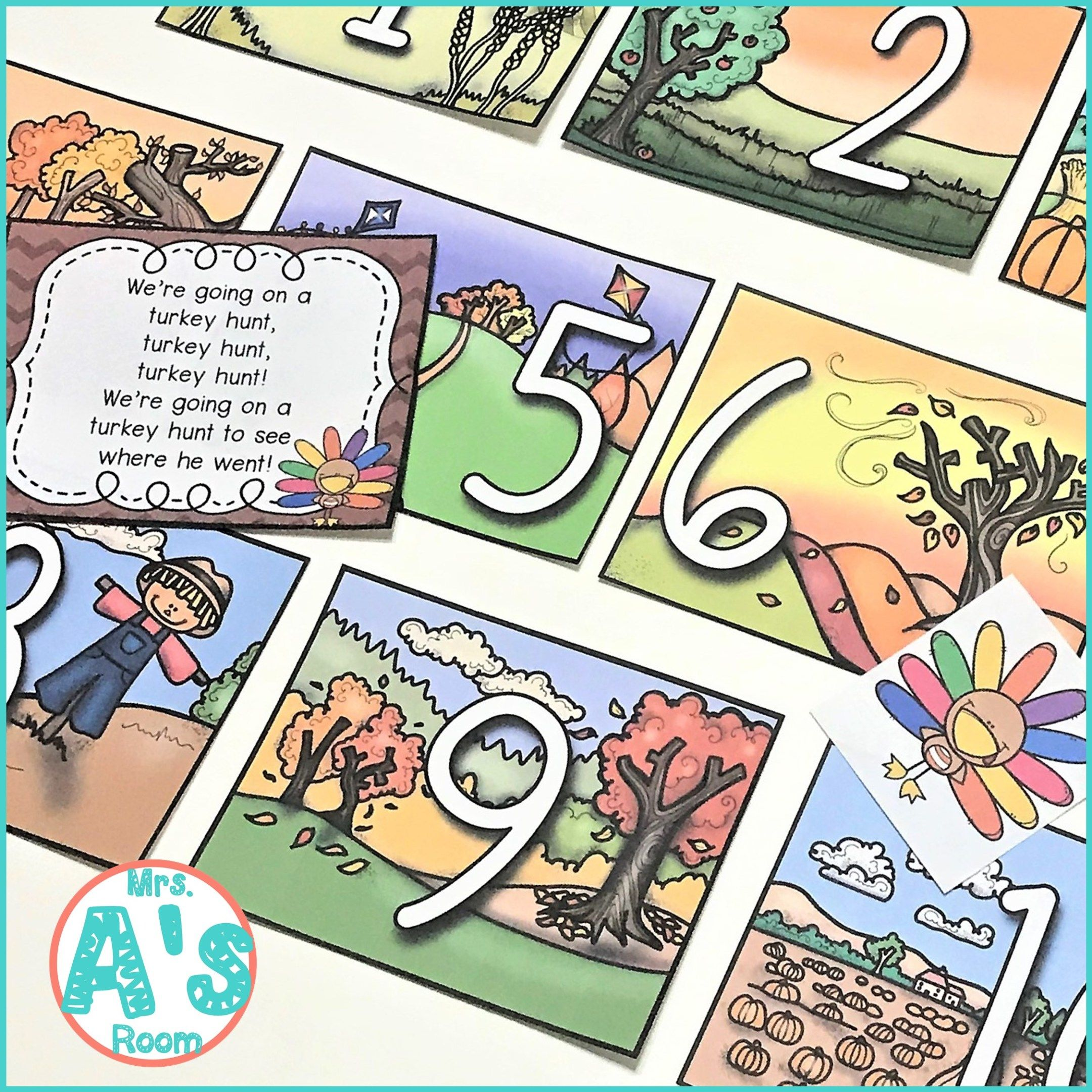 Thanksgiving Circle Time Games Numbers Amp Counting