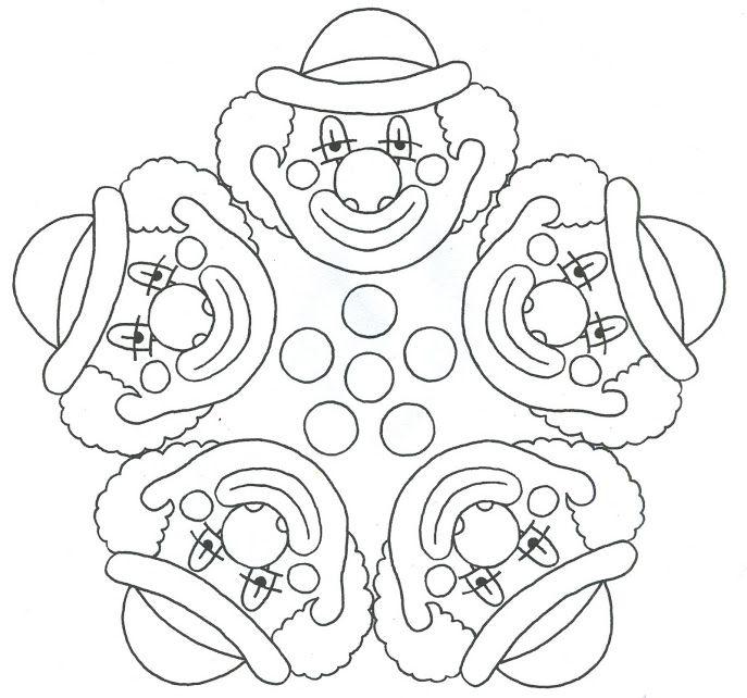 Mandala 4 Clowns Mandala Disegni Di Mandala Da Colorare