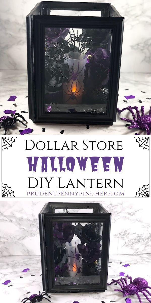 Dollar Store Halloween DIY Lantern #halloween #halloweencrafts #halloweendecorations #halloweendecor #diy #crafts #diycrafts #dollartree #dollarstore