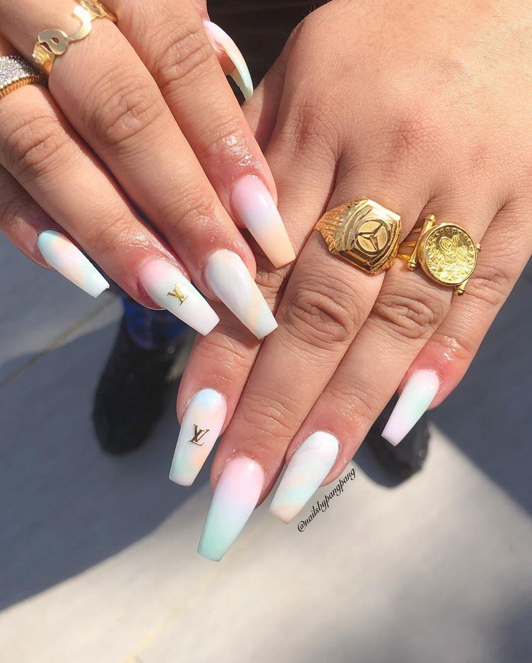 Nail By Pangpang On Instagram Mixed Ombre Nailsbypangpang Croydon Ombrenails Glitternailsdesign Londonnails Acrylicnails Nails Beauty Nails