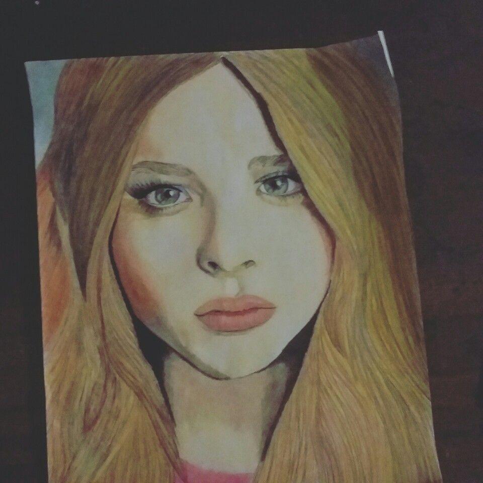 "Dibujo de ""Chloë Grace Moretz"" (intento)"