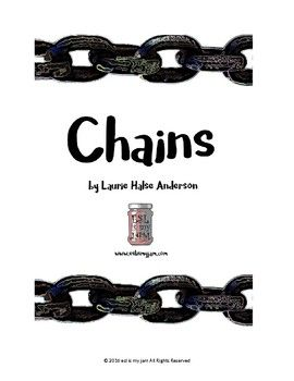 FREEBIE! Chains by Laurie Halse Anderson visualizing