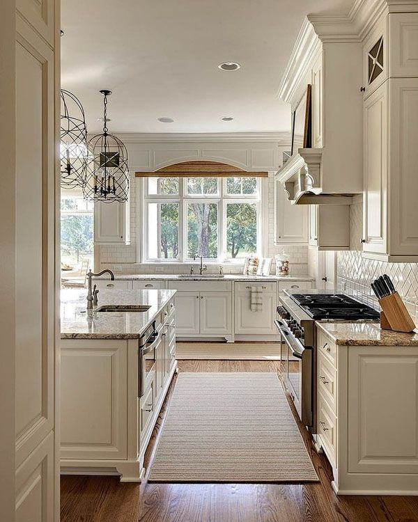 Beautiful Traditional Small Kitchen Design Featuring White: 65 Extraordinary Traditional Style Kitchen Designs