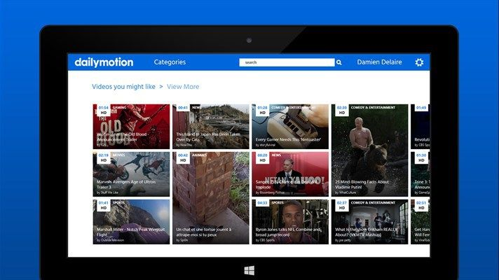 Universal Dailymotion Application For Windows 10 With