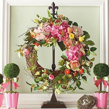 Adjustable Wreath Stand | Wreaths, Easter And Mantels Decor