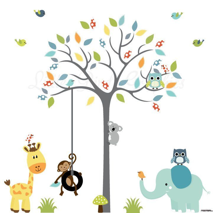 Baby Wand Aufkleber Kinderzimmer Baum Wand Aufkleber Grau