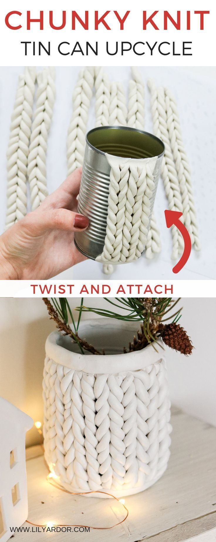 DIY Chunky knit using Clay – Chunky Knit Planter – Lily Ardor