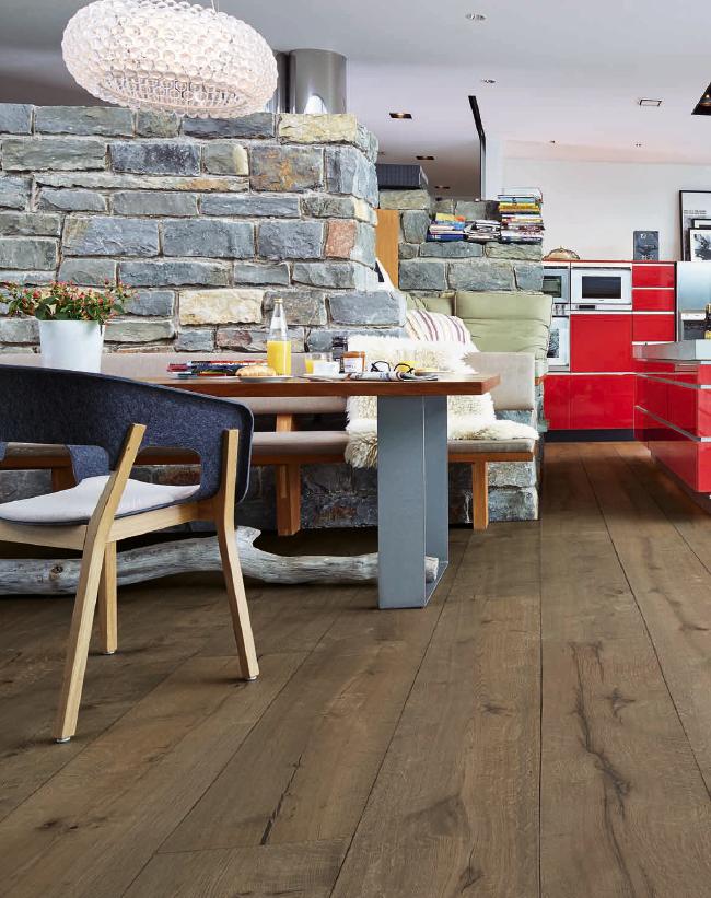 Meister Lindura Wood Flooring Clay Grey Rustic Oak 8411 Brushed