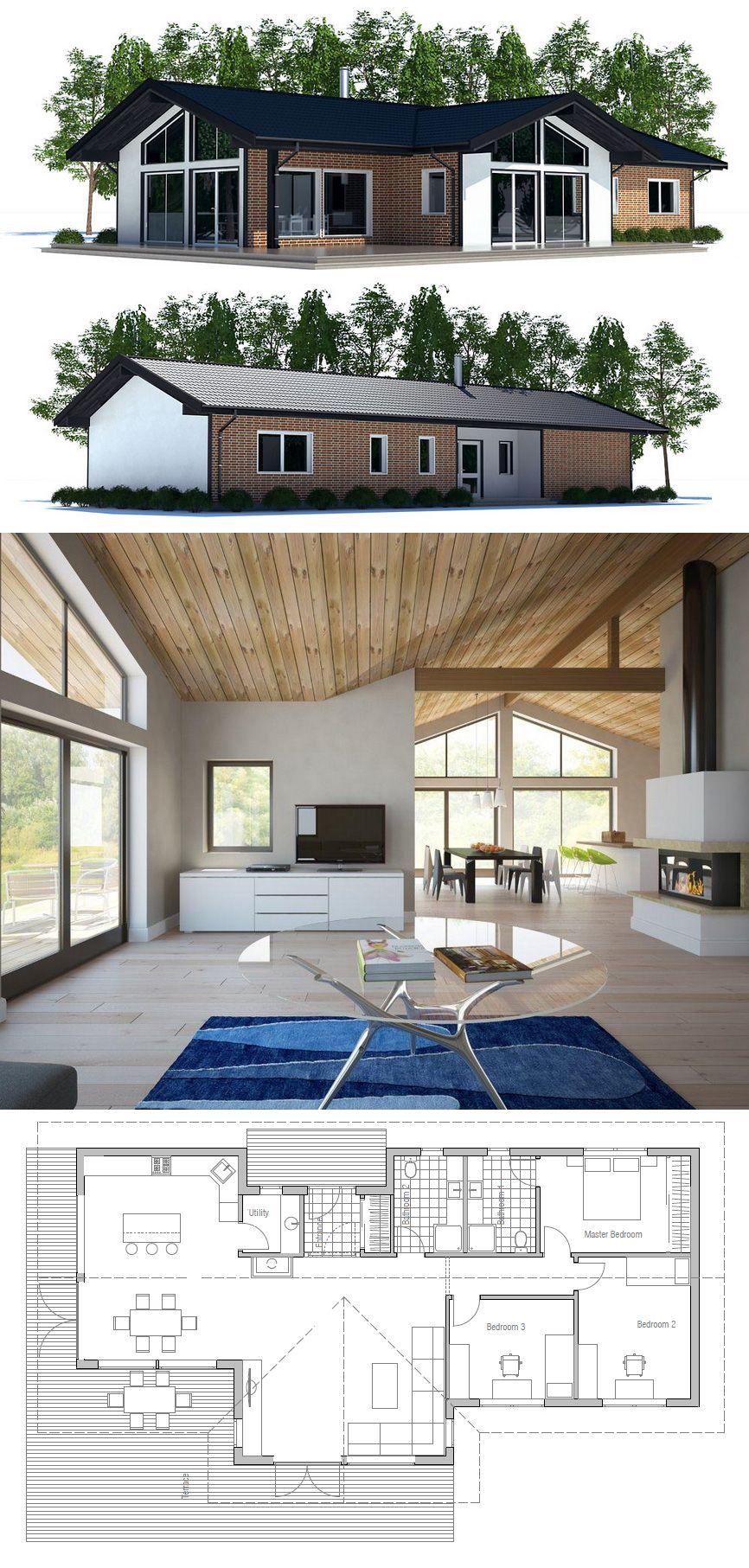 Small House Plan | concept maison | Pinterest | Grundrisse ...