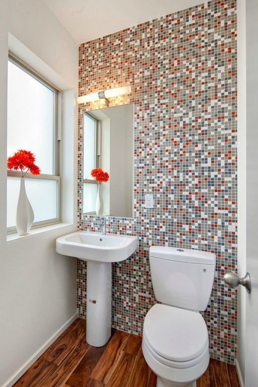 Pictures In Gallery Modern Powder Room with Starlight Chrome Concetto Single Handle Single Hole Bathroom Faucet Powder
