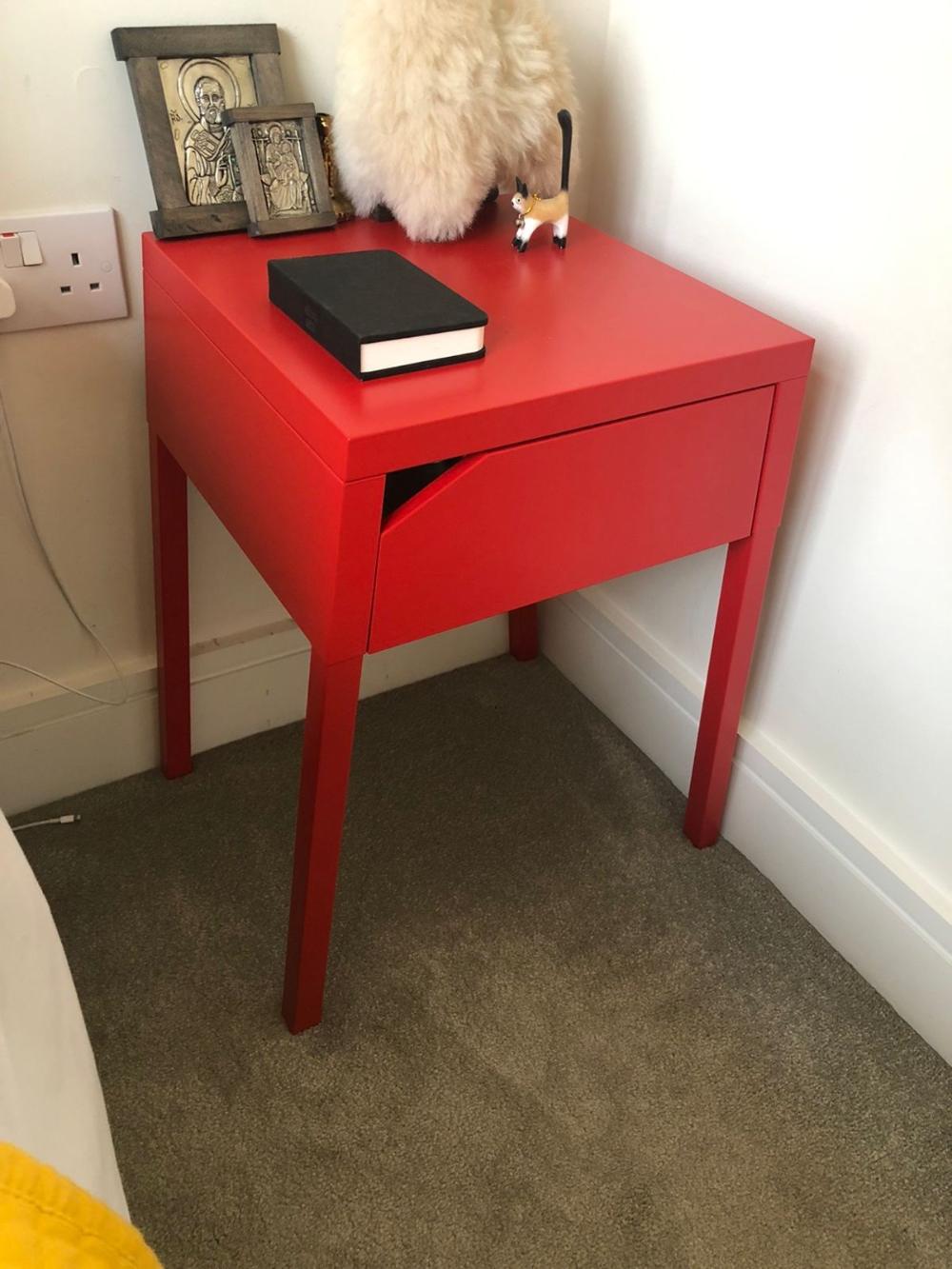 Ikea Selje Metal Bedside Table [ 1333 x 1000 Pixel ]