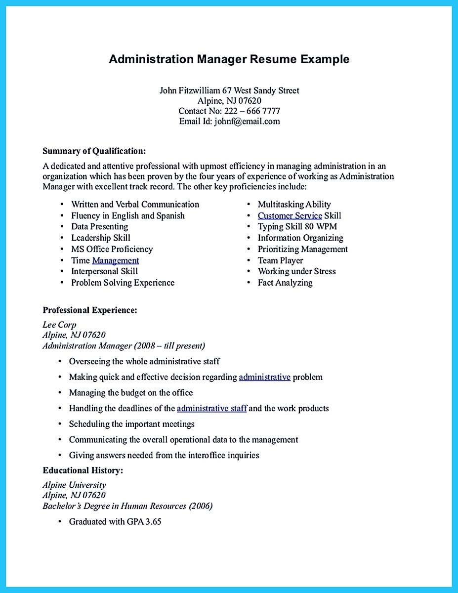 Cool Professional Administrative Resume Sample To Make You