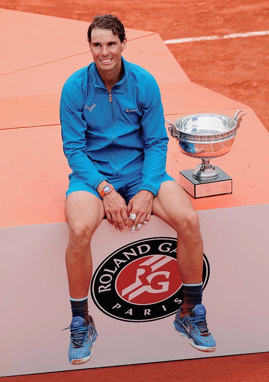 Rafael Nadal His 11th Roland Garros Title 10 June 2018 Rafael Nadal Roland Garros Tennis Stars