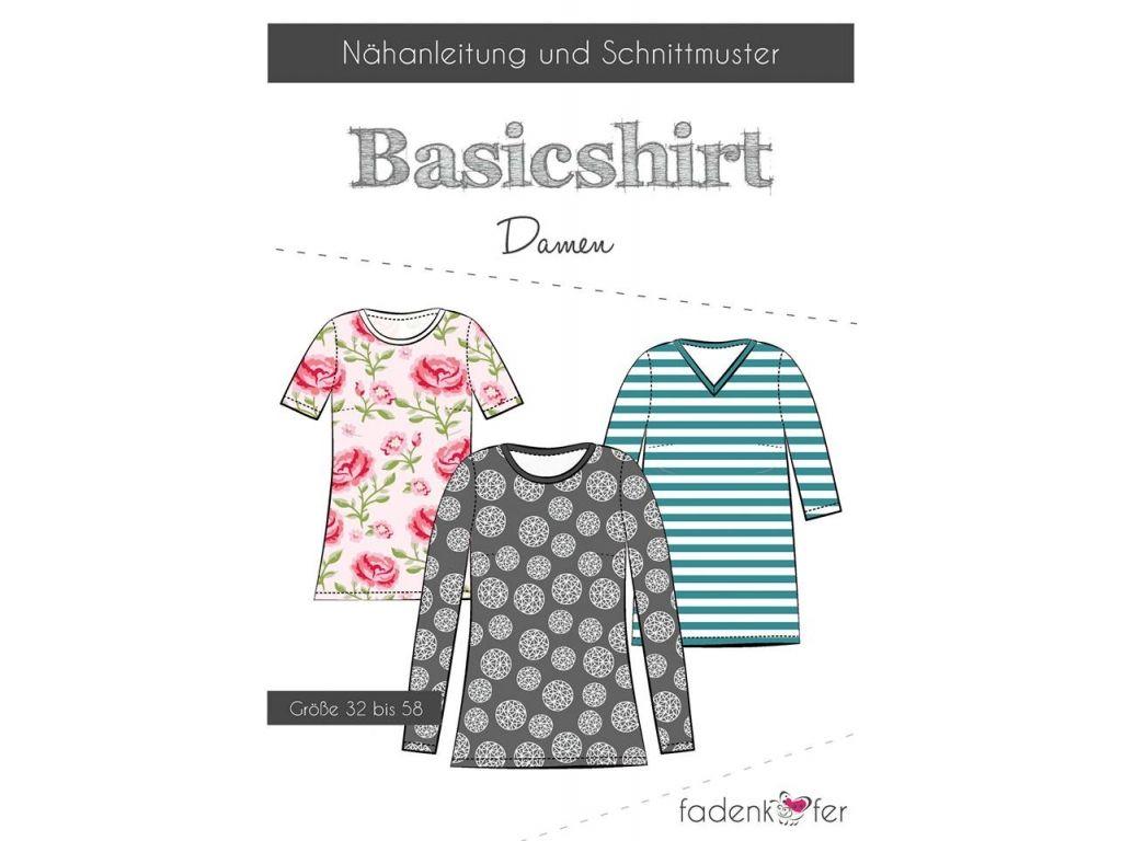 10,90€. Papierschnittmuster Basicshirt Damen von Fadenkäfer jetzt ...