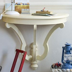 Small Half Moon Table For Hall i would love to make thisnot as a desk but like an entry table