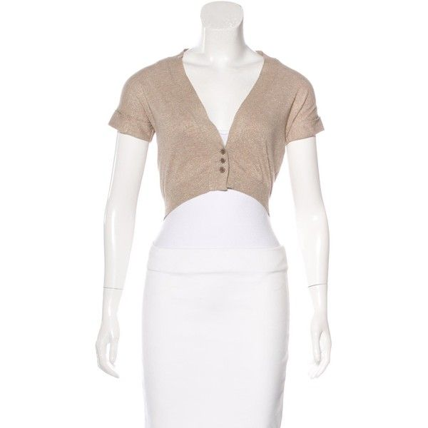Pre-owned Brunello Cucinelli Cropped Short Sleeve Cardigan ($200 ...