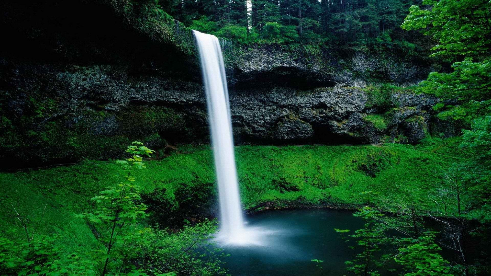 Silver Falls South Oregon Waterfalls Wallpaper