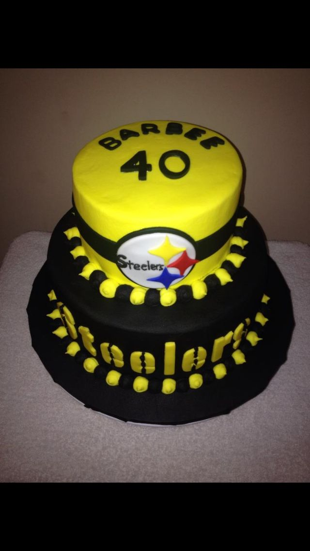 Surprising Steelers Cake With Images 50Th Birthday Cake Football Cake Cake Funny Birthday Cards Online Fluifree Goldxyz