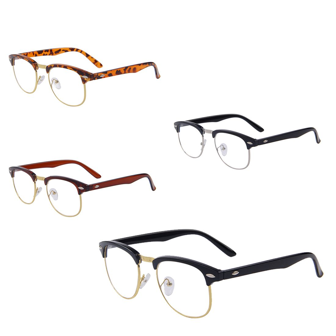 Click to buy ucuc pc classic retro clear lens nerd frames glasses