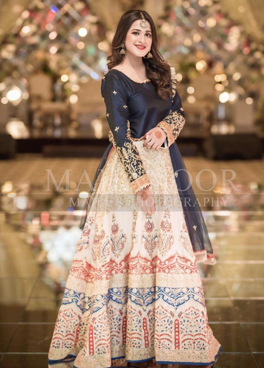 Brides Cousin Pakistani Party Wear Dresses Bridal Dress Design Wedding Dresses For Girls,Tea Length Wedding Dresses With Pockets