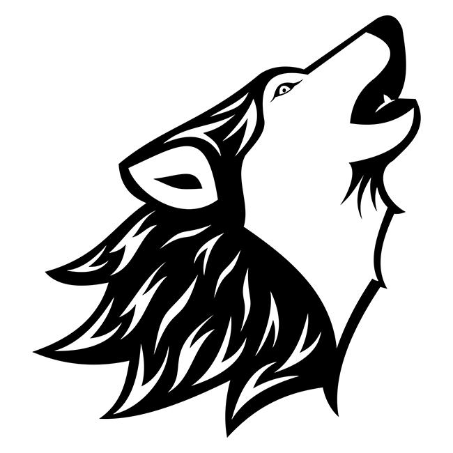 Howling Wolf Tattoo Http Freevectorsite Com Howling Wolf Tattoo Howling Wolf Tattoo Wolf Howling Wolf Decor