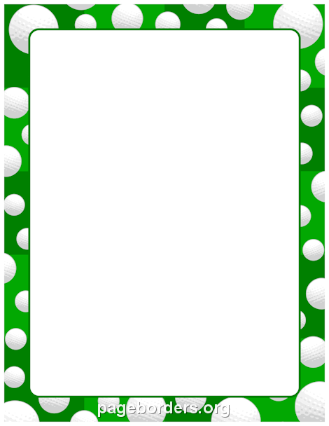 Printable golf ball border. Use the border in Microsoft Word or ...