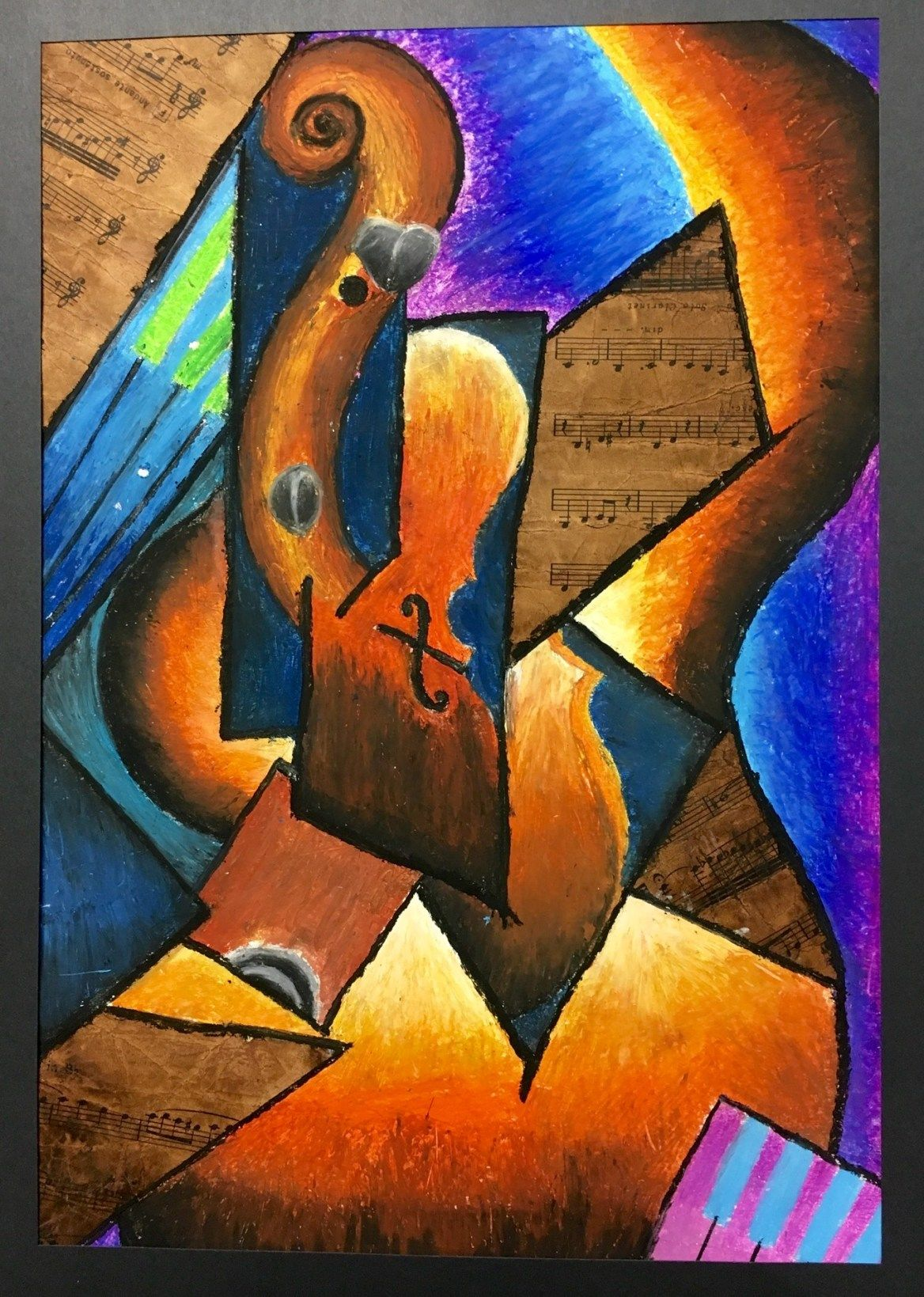 Cubism Music Instrument Lesson Plan In