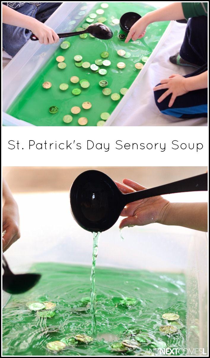 St. Patricks\' Day Sensory Soup | Spring & Easter | Pinterest | Motor ...