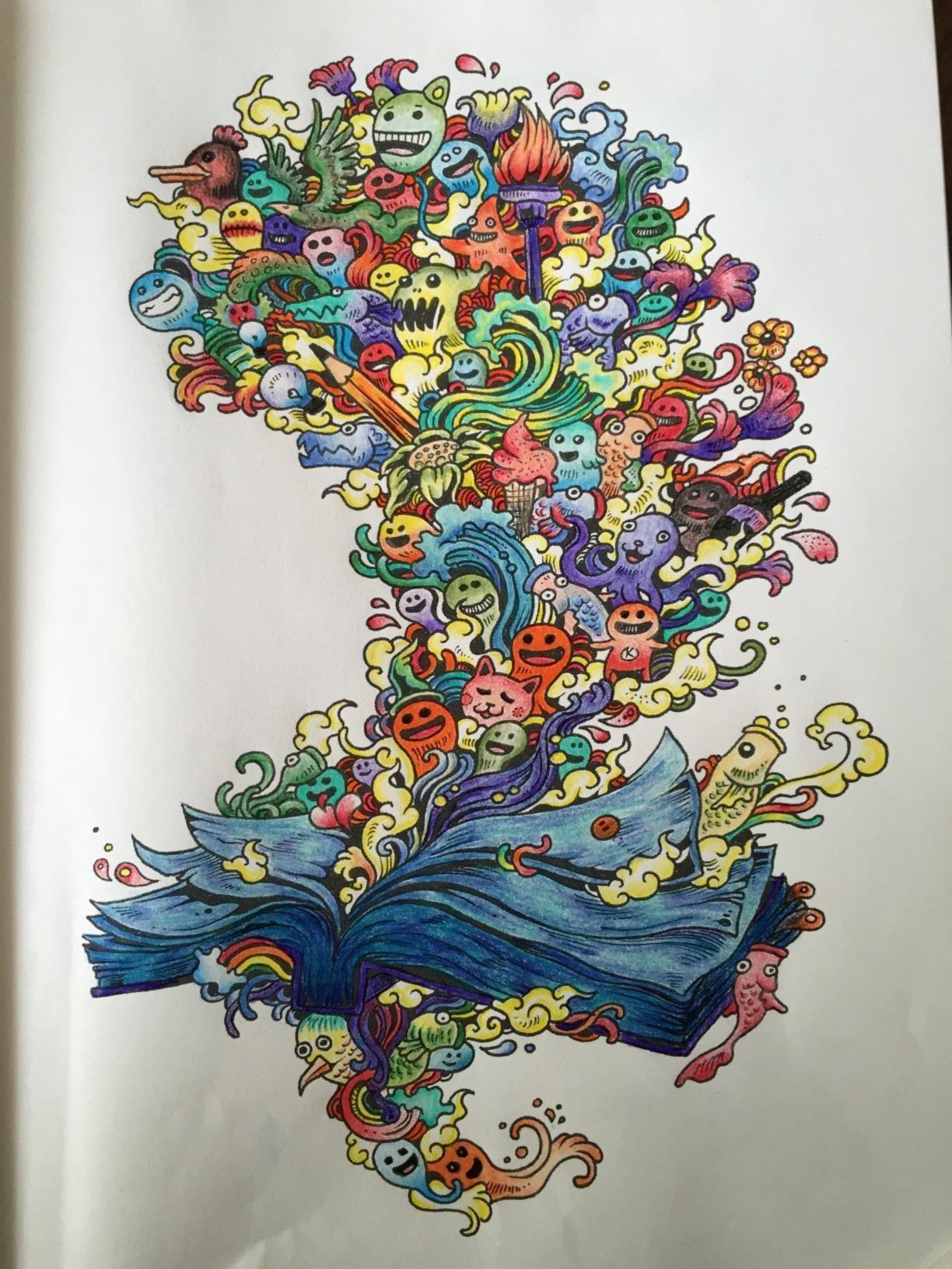 Doodle Invasion Zifflin S Coloring Book Zifflin Kerby Rosanes 9781492977056 Amazon Com Books Coloring Book Art Coloring Books Doodle Coloring