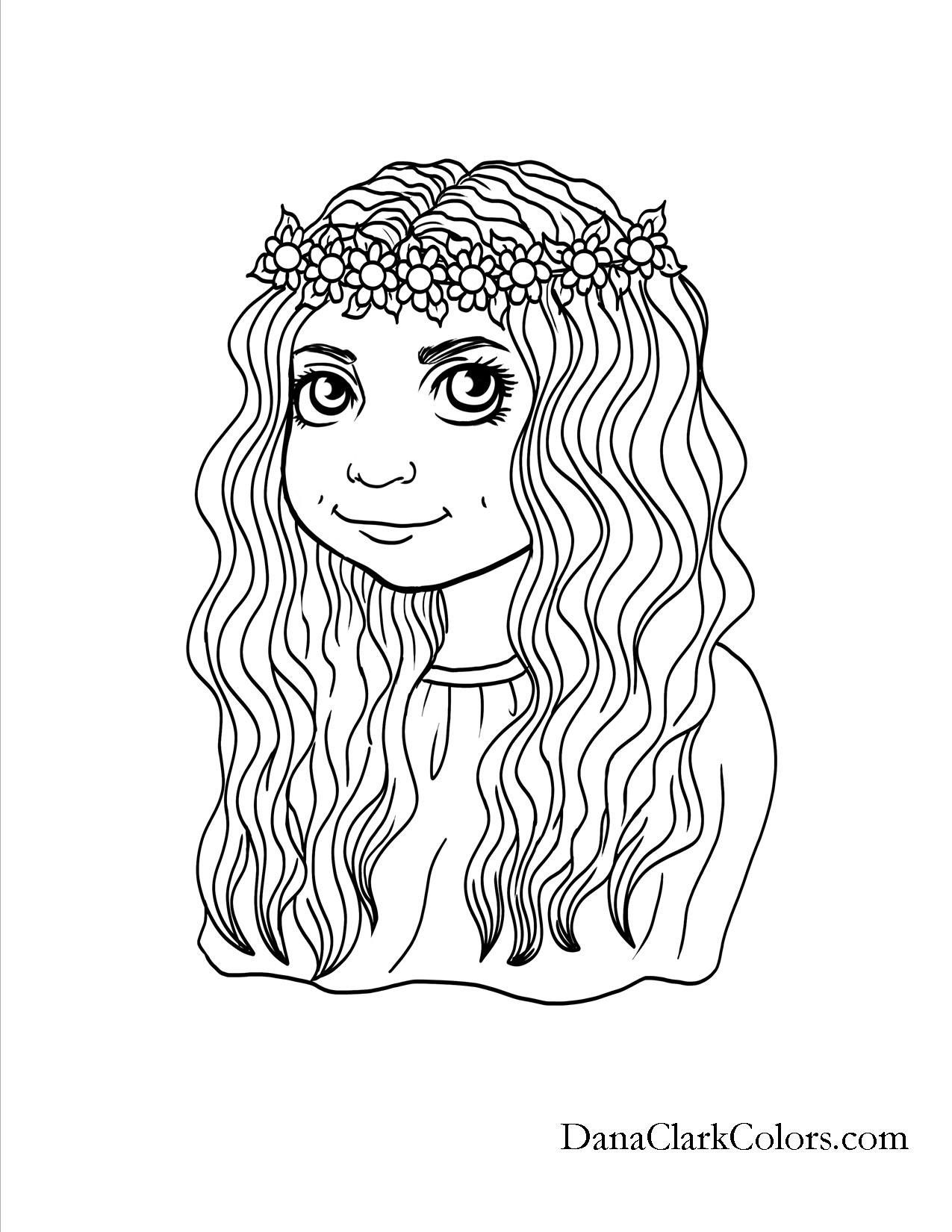 new hairstyle coloring pages - photo#3
