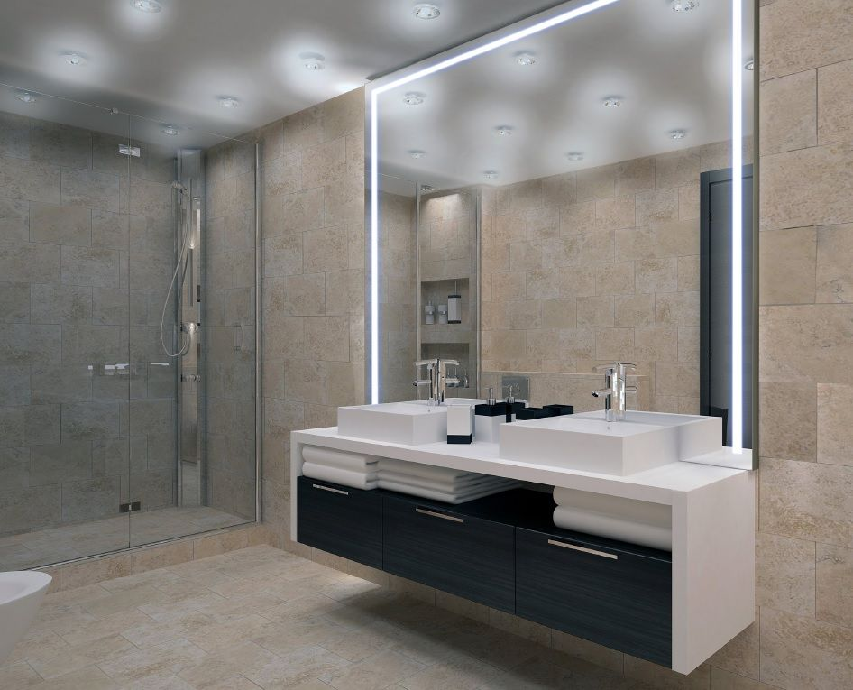 Bathroom mirror with led lights bath design pinterest bathroom mirror with led lights mozeypictures Images