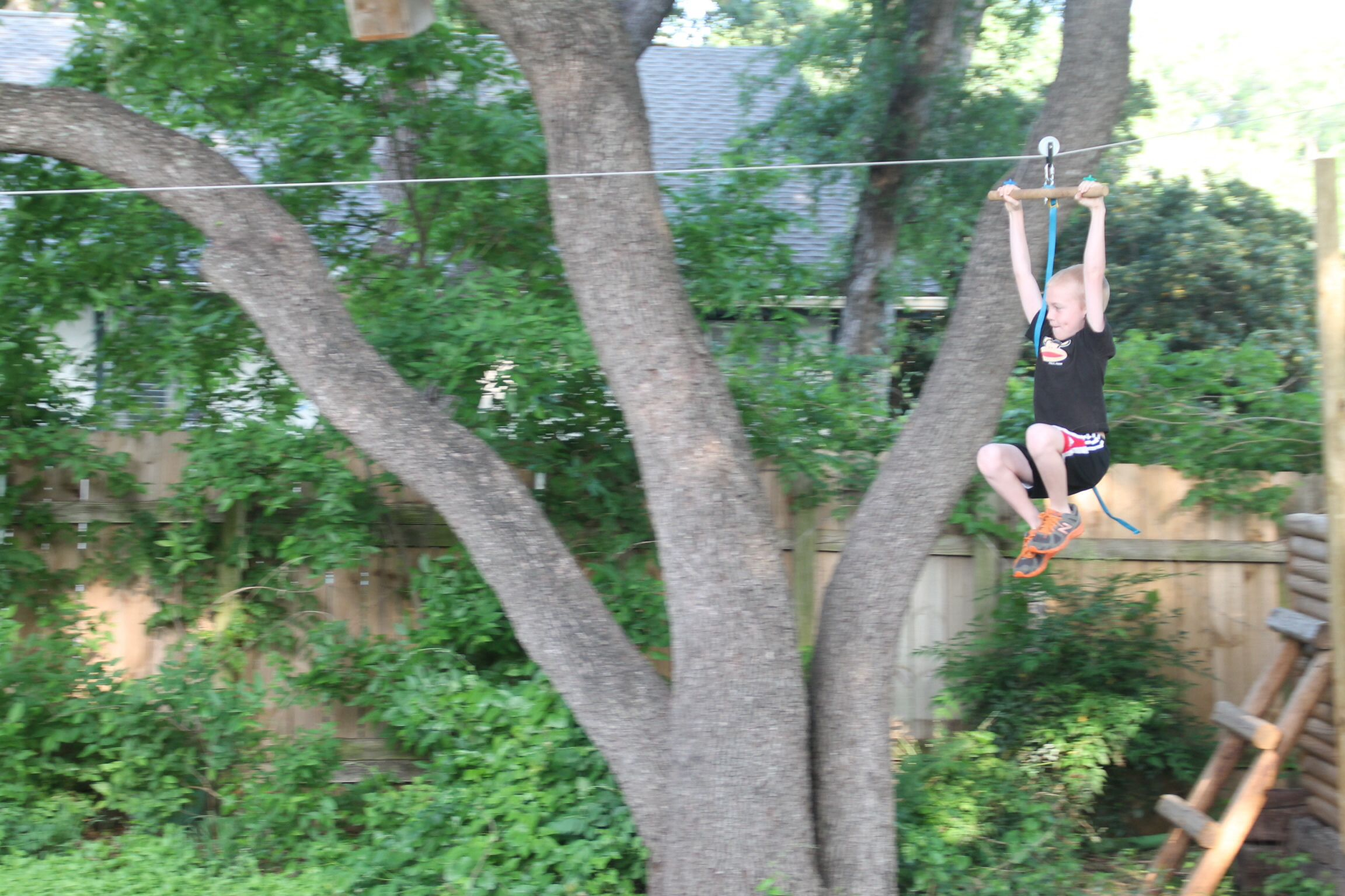 Hopefully someday we could get a cool zipline like this ...