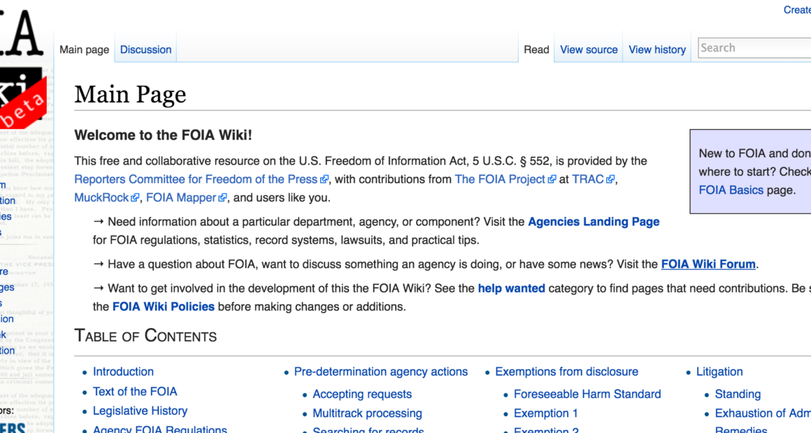 Foia Wiki Launches In Beta With Images Freedom Of Information Act Collaboration Space Freedom Of The Press