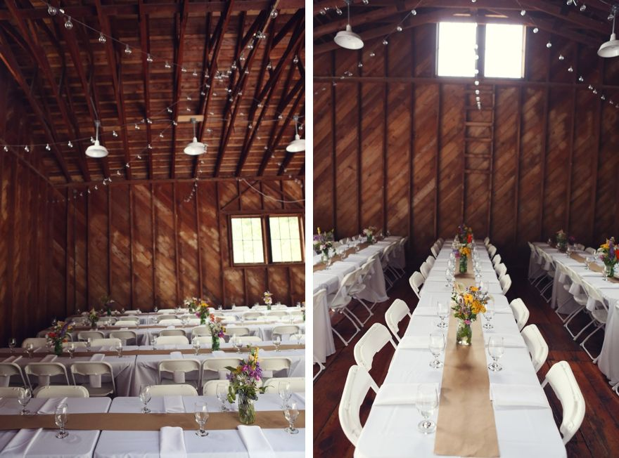 Michael Danielle Wedding Photos Woodstock Farm Tables In The Barn Photographers