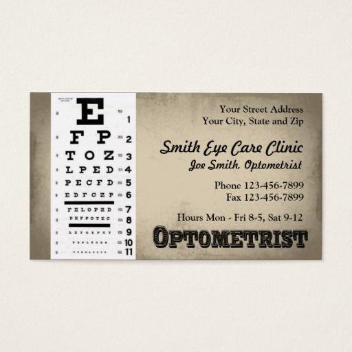 Optometrist Business Card Zazzle Com In 2021 Printing Business Cards Business Cards Doctor Business Cards