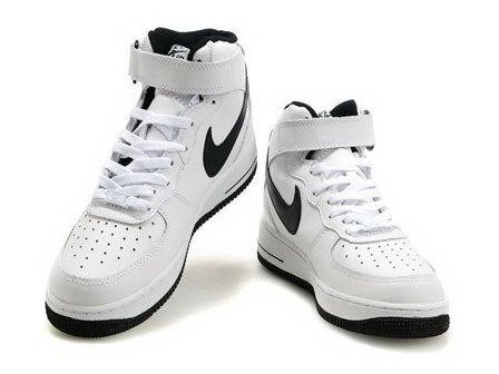 Nike Air Force 1 Mid White Black Black Sneakers #White #Womens #Sneakers